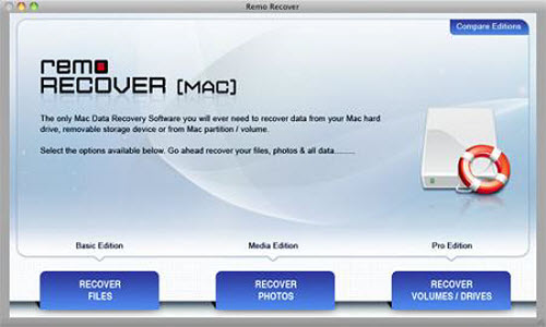Best File Recovery Program - Welcome Screen